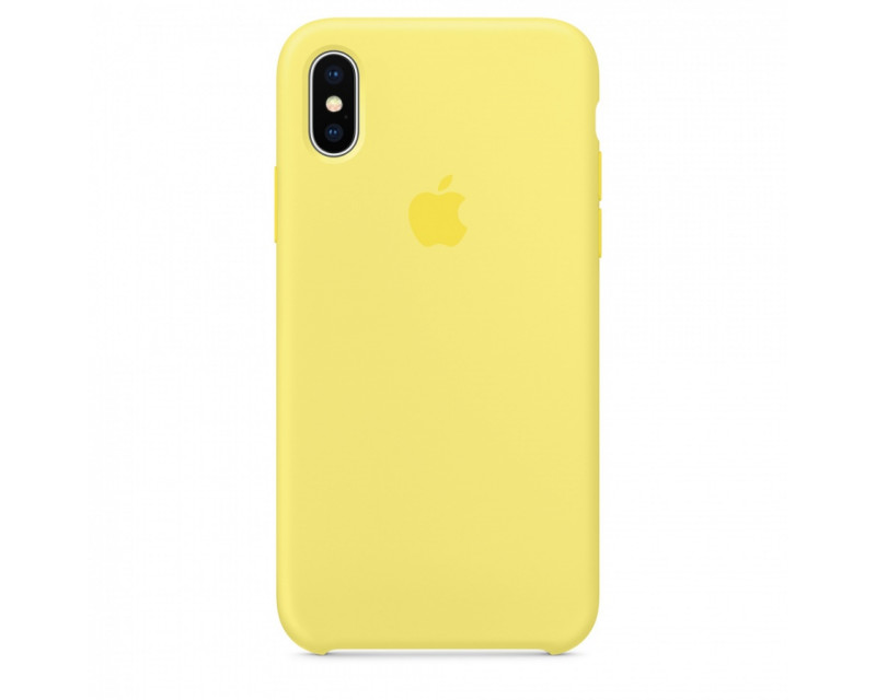 Чехол-накладка Apple iPhone X Silicone Case Lemonade