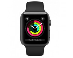 Умные часы Apple Watch Series 3 38mm Aluminum Case Space Gray with Sport Band Black