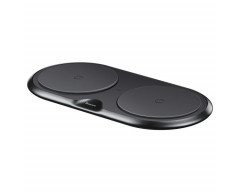 Baseus Dual Wireless Charger Plastic Style Black